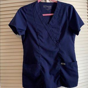 Greys anatomy navy blue top